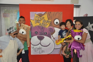 With the cast of Prince Bear & Pauper Bear