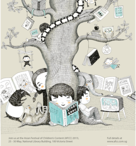 One Big Story - artwork by Malaysian Illustrator Emila Yusof (AFCC 2013)