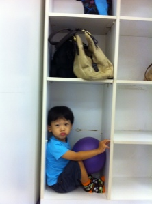 Caleb in shelf