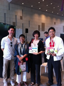 (From left) -Actor Edmund Chen, Storyteller Rosemary Somaiah and me