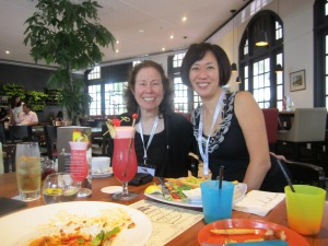 Took Vivian Kirkfield to Raffles Hotel for the famous Singapore Sling