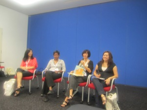(from left) Eliza Teoh, Shamini Flint, Me and Ho Lee Ling
