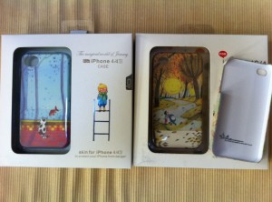 My post-Christmas loot - 3 Jimmy Liao iphone covers (autographed!)