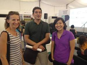 Sarah Mousey (author), Kenneth Quek (AFCC Festival Director) and my Epigram editor Sheri Tan