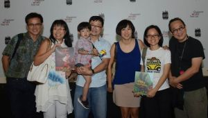 With Pauline Loh + husband, Ben + Caleb and Edmund Wee, Publisher, Epigram Books