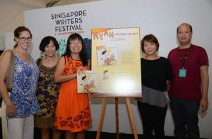 Authors Catherine Carvell and David Seow came to support Pauline & I at our book launches. Pauline launched 2 books!