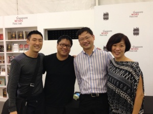 At Desmond's book launch of The Arbitrary Sign at the Singapore Writer's Festival