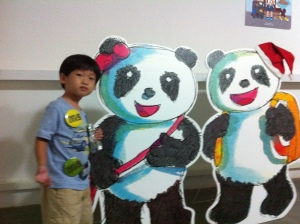 With the pandas from the BoBo and ChaCha picture book series by Jason Erik Lundberg and Patrick Yee
