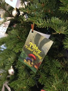 Spotted! Tibby The Tiger Bunny takes a spot on Epigram's Christmas Tree!