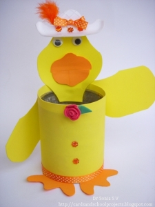 Duck -Recycled Tin Craft014