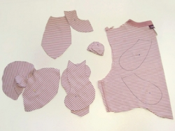 Cutting up your old tee to make your Threadbear (Source: so Crafty)