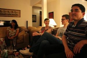 Jacaranda post-AFCC party (Emma, Simon and Kenneth)