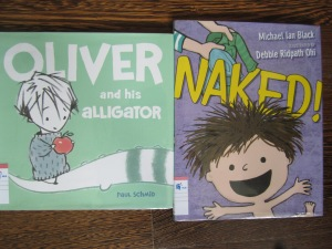 Oliver and the Alligator Naked