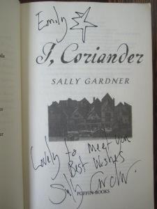 I Coriander autographed copy