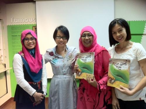 Linn (2nd from left) with preschool educators