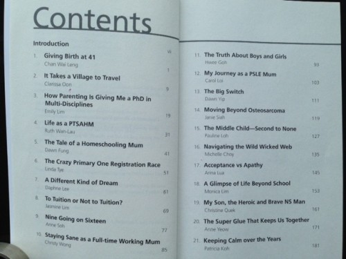 Keep Calm contents page
