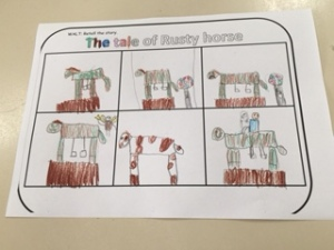 One class did a Rusty Horse activity before my visit!