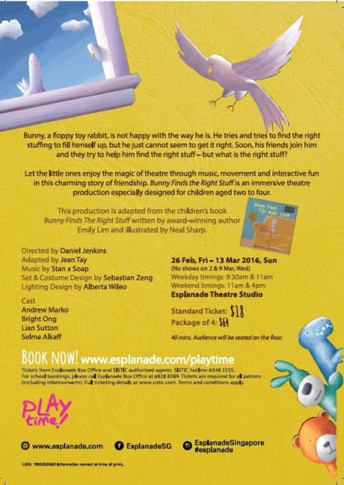 bunny Esplanade flyer (back)